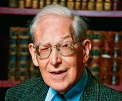 J I Packer in study image