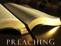 Preaching open Bible image