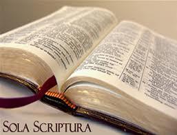 Sola Scriptura open Bible