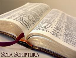 Sola Scriptura open Bible