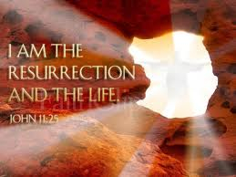 Resurrection and the life image from John 11