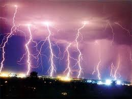 lightning striking 7 times