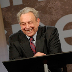 Sproul RC laughing over podium image