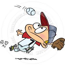 baseball fielder cartoon
