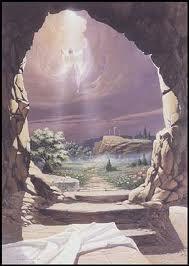 Jesus' empty tomb and resurrection image