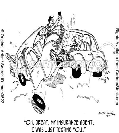 Texting your insurance agent accident