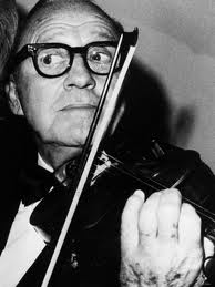 Jack Benny playing the violin