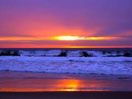 dark sunset at the beach