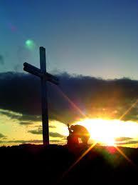 prayer before a cross