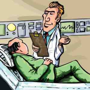 doctor and patient cartoon