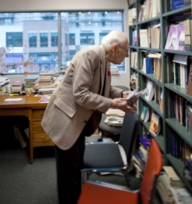 J.I. PACKER IN HIS VANCOUVER OFFICE 2009