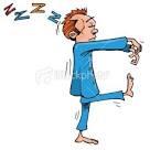 Cartoon sleep walker
