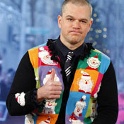 Christmas sweater matt damon