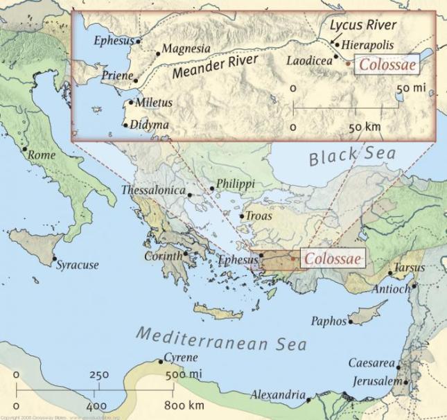 Colossae-Map